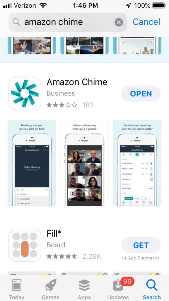 Download Amazon Chime app